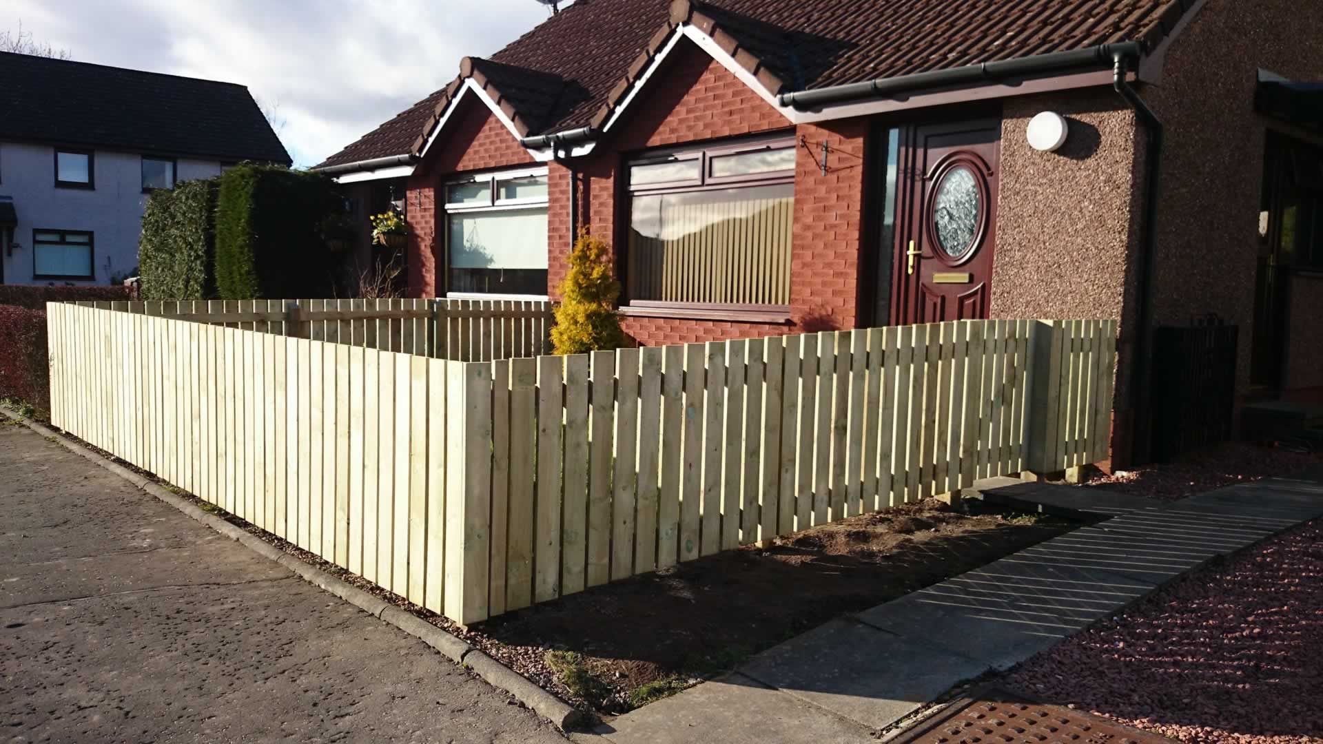 small fencing in Dunblane